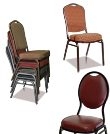 Steel Powder-Coat Stack Chairs (10 High)