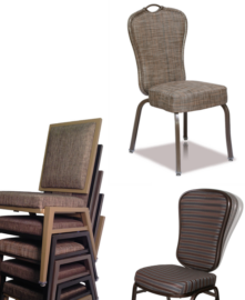 Aluminum Flex-Back Stack Chairs